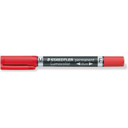 STAEDTLER Lumocolor Permanent-Marker duo, rot