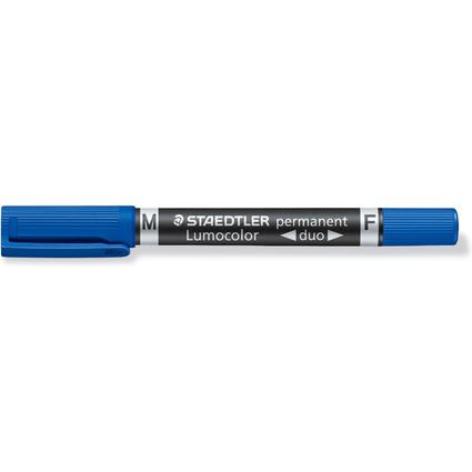 STAEDTLER Lumocolor Permanent-Marker duo, blau