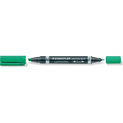 STAEDTLER Lumocolor Permanent-Marker duo, grün
