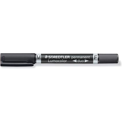 STAEDTLER Lumocolor Permanent-Marker duo, schwarz
