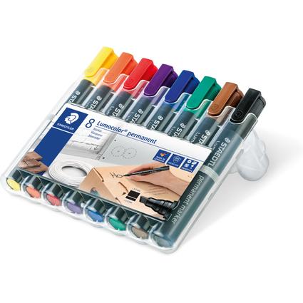 STAEDTLER Lumocolor Permanent-Marker 350, 8er Etui