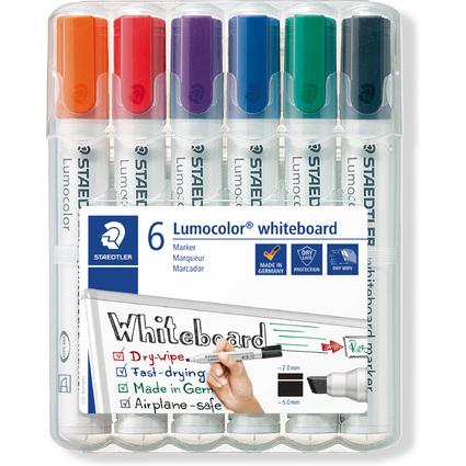 STAEDTLER Lumocolor Whiteboard-Marker 351B, 6er Etui