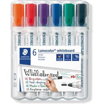 STAEDTLER Lumocolor Whiteboard-Marker 351, 6er Etui