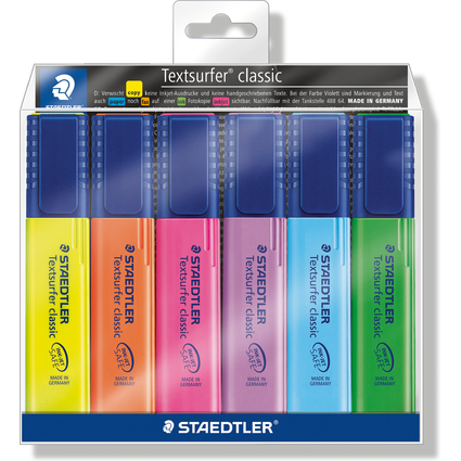 "STAEDTLER Textmarker ""Textsurfer classic"", 6er Etui"