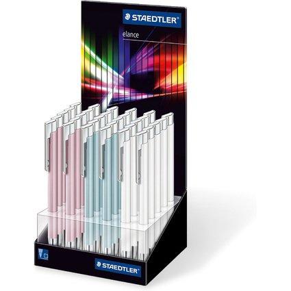 STAEDTLER Druckkugelschreiber elance Rainbow Line, Display