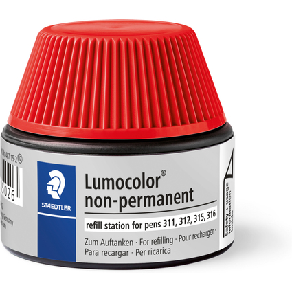 STAEDTLER Lumocolor Refill-Station non-permanent, rot