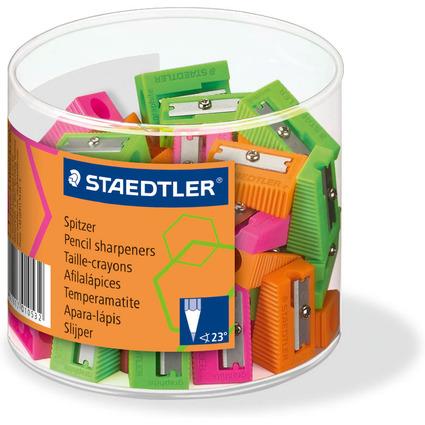 STAEDTLER Spitzer Neonfarben, aus Kunststoff, 60er Köcher