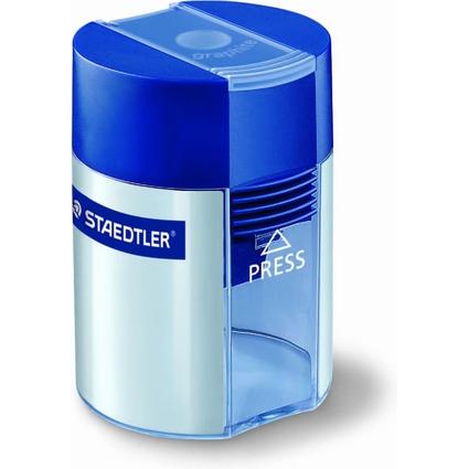 STAEDTLER Spitzdose, rund, silber, blauer Deckel