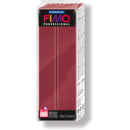 FIMO PROFESSIONAL Modelliermasse, bordeaux, 350 g