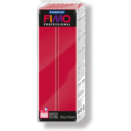 FIMO PROFESSIONAL Modelliermasse, ofenhärtend, karmin, 350 g