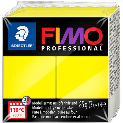 FIMO PROFESSIONAL Modelliermasse, zitronengelb, 85 g