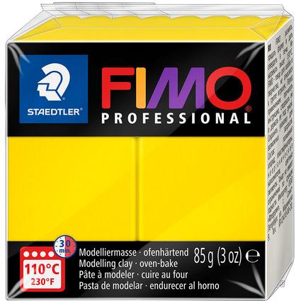 FIMO PROFESSIONAL Modelliermasse, ofenhärtend, echtgelb,85 g
