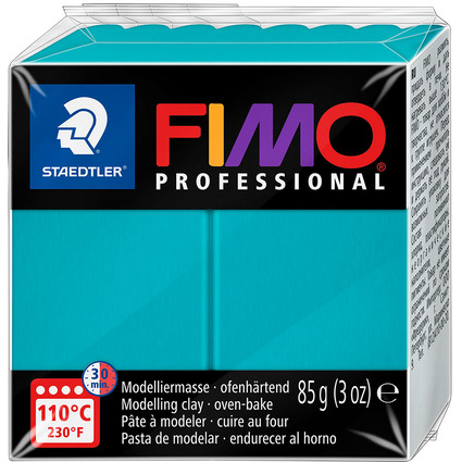FIMO PROFESSIONAL Modelliermasse, ofenhärtend, türkis, 85 g