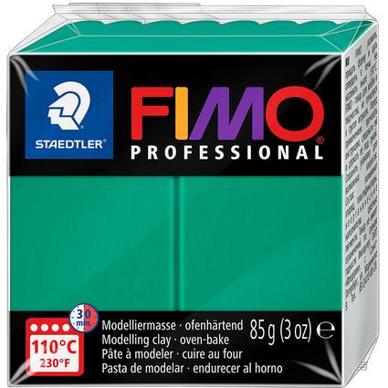 FIMO PROFESSIONAL Modelliermasse, ofenhärtend, echtgrün,85 g