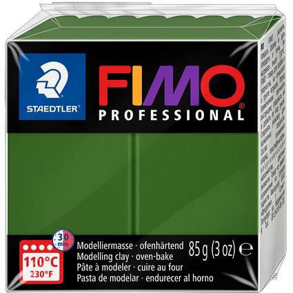 FIMO PROFESSIONAL Modelliermasse, blattgrün, 85 g