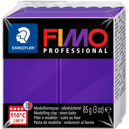 FIMO PROFESSIONAL Modelliermasse, ofenhärtend, lila, 85 g