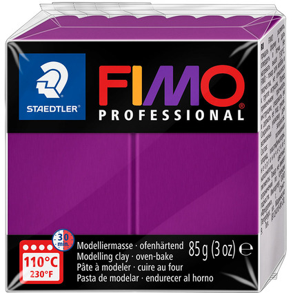 FIMO PROFESSIONAL Modelliermasse, ofenhärtend, violett, 85 g