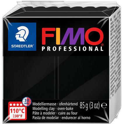 FIMO PROFESSIONAL Modelliermasse, ofenhärtend, schwarz, 85 g