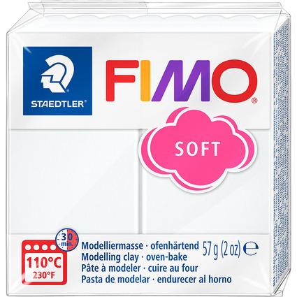 FIMO SOFT Modelliermasse, ofenhärtend, weiß, 57 g