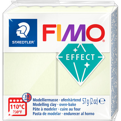 FIMO EFFECT Modelliermasse, ofenhärtend, nachtleucht, 57 g