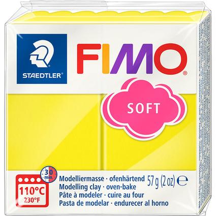 FIMO SOFT Modelliermasse, ofenhärtend, limone, 57 g