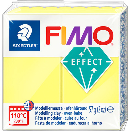 FIMO EFFECT Modelliermasse, ofenhärtend, transparent-gelb