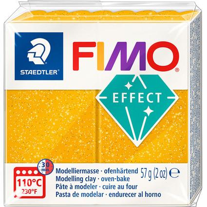 FIMO EFFECT Modelliermasse, ofenhärtend, glitter-gold, 57 g