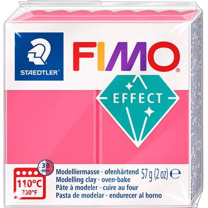 FIMO EFFECT Modelliermasse, ofenhärtend, transparent-rot