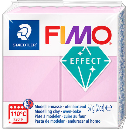 FIMO EFFECT Modelliermasse, ofenhärtend, pastell-rosé, 57 g