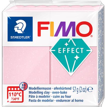 FIMO EFFECT Modelliermasse, ofenhärtend, rosenquarz, 57 g