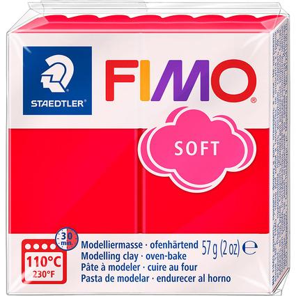 FIMO SOFT Modelliermasse, ofenhärtend, indischrot, 57 g