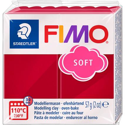 FIMO SOFT Modelliermasse, ofenhärtend, kirschrot, 57 g