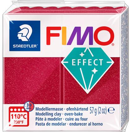 FIMO EFFECT Modelliermasse, ofenhärtend, metallic-rubinrot