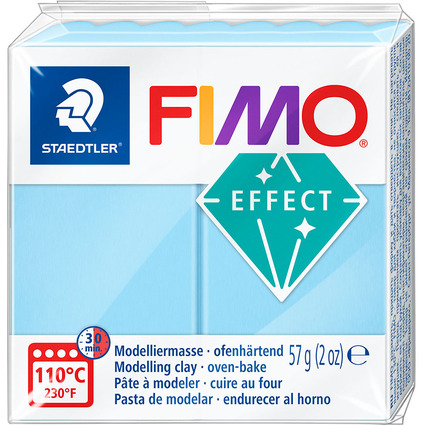 FIMO EFFECT Modelliermasse, ofenhärtend, pastell-aqua, 57 g