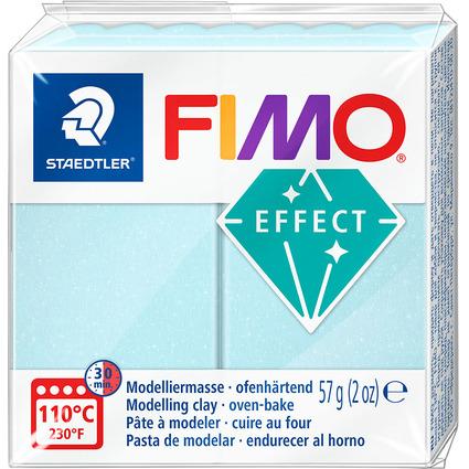 FIMO EFFECT Modelliermasse, ofenhärtend, eiskristallblau,57g