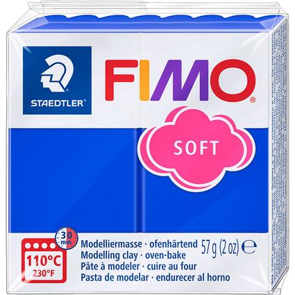 FIMO SOFT Modelliermasse, ofenhärtend, brillantblau, 57 g