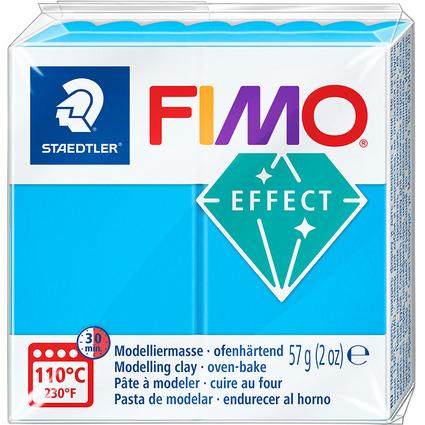 FIMO EFFECT Modelliermasse, ofenhärtend, transparent-blau