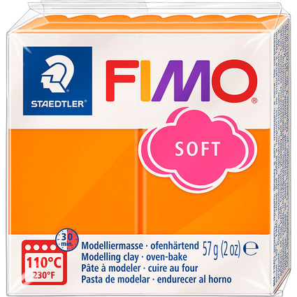 FIMO SOFT Modelliermasse, ofenhärtend, mandarine, 57 g