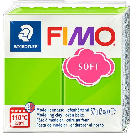 FIMO SOFT Modelliermasse, ofenhärtend, apfelgrün, 57 g