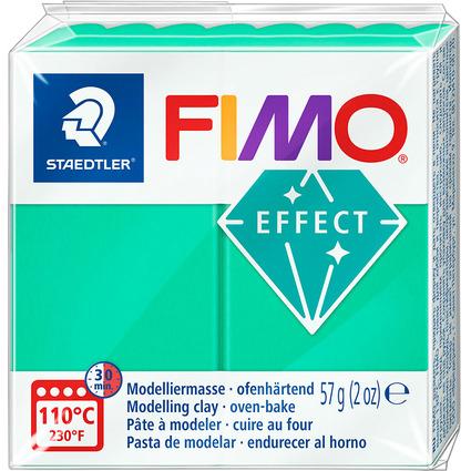 FIMO EFFECT Modelliermasse, ofenhärtend, transparent-grün