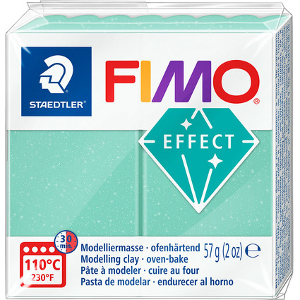FIMO EFFECT Modelliermasse, ofenhärtend, jade, 57 g