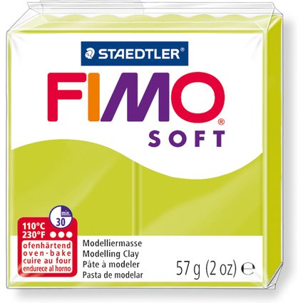 FIMO SOFT Modelliermasse, ofenhärtend, grüne Limone, 57 g