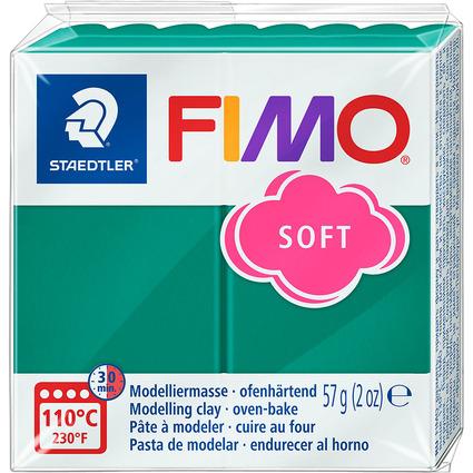 FIMO SOFT Modelliermasse, ofenhärtend, smaragdgrün, 57 g