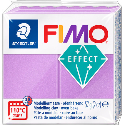 FIMO EFFECT Modelliermasse, ofenhärtend, flieder, 57 g