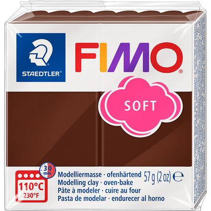 FIMO SOFT Modelliermasse, ofenhärtend, schokolade, 57 g