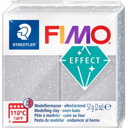 FIMO EFFECT Modelliermasse, ofenhärtend, glitter-silber, 57g