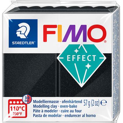 FIMO EFFECT Modelliermasse, ofenhärtend, schwarz, 57 g
