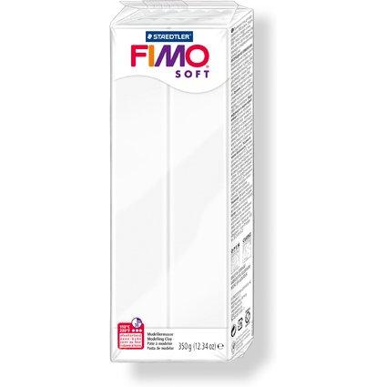 FIMO SOFT Modelliermasse, ofenhärtend, weiß, 350 g