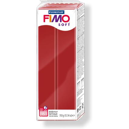 FIMO SOFT Modelliermasse, ofenhärtend, weihnachtsrot, 350 g