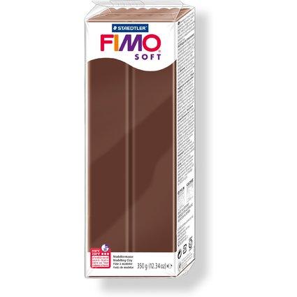 FIMO SOFT Modelliermasse, ofenhärtend, schoko, 350 g